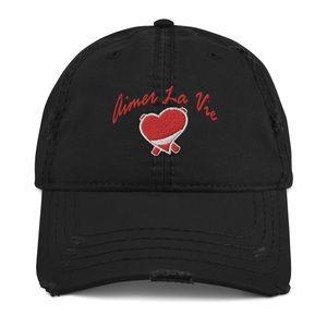 Aimer la vie logo Distressed Dad Hat